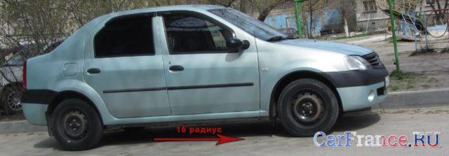 Размер колес и шин Рено Логан r14 и r15: летняя резина на renault logan 2008