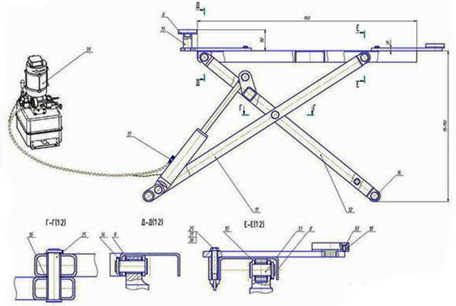 Самодельный домкрат для поднятия машины: чертежи и описание как сделать