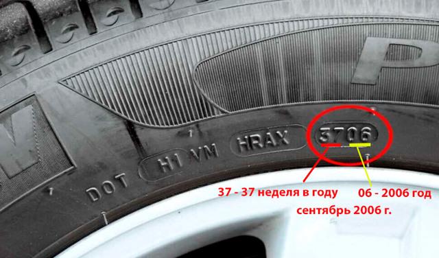 Срок годности шин по ГОСТу: срок службы резины легкового автомобиля