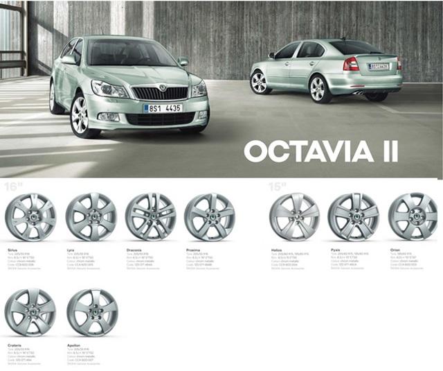 Диски на Шкода Октавия А5: размер оригинальных колесных дисков на skoda octavia