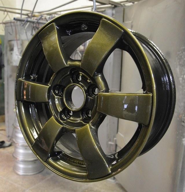 Порошковая покраска дисков, где покрасить литые автодиски порошковой краской